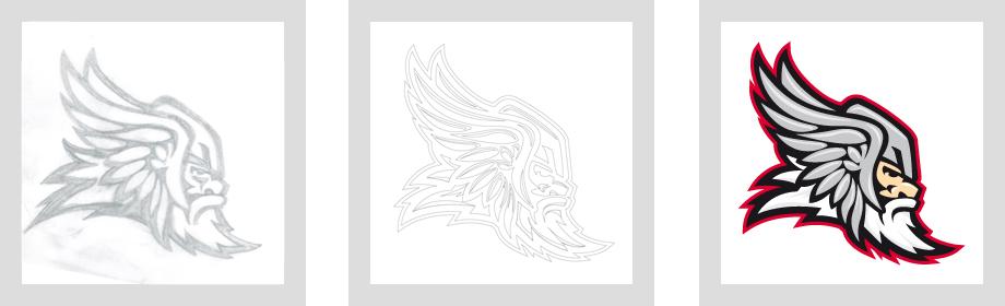 Täby HC logo development